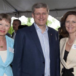 Prime Minister Harper and Senator Janis Johnson. Photo courtesy the Office of the Prime Minister