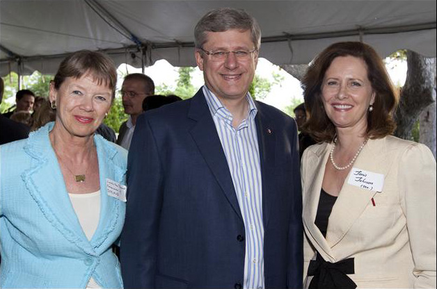 Prime Minister Harper and Senator Janis Johnson