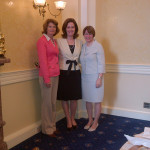 Senator Johnson (centre) with Senator Lisa Murkowski and Senator Amy Klobuchar in Washington, DC