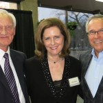 From left, Dean Emeritus of the University of Manitoba, Dr. Harold Bjarnason; Senator Janis Johnson; former Premier of Manitoba Gary Filmon