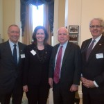 From left: Senator Paul Massicotte, US Senator John McCain and MP John Carmichael