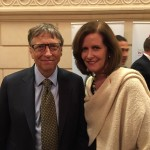 With Bill Gates at a reception for Saving Every Woman, Saving Every Child.