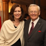 With former Speaker of the Senate, Dr. Noel A. Kinsella, P.C.
